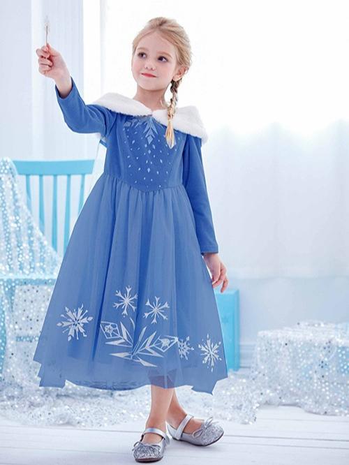 冰雪奇缘1艾莎公主裙