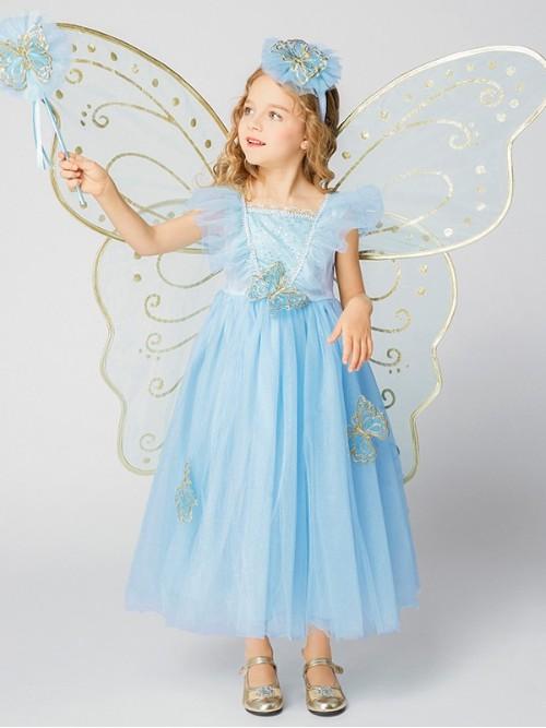 3D蝴蝶仙子套装蓝色款