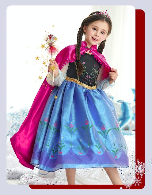圣诞节礼物安娜礼服裙