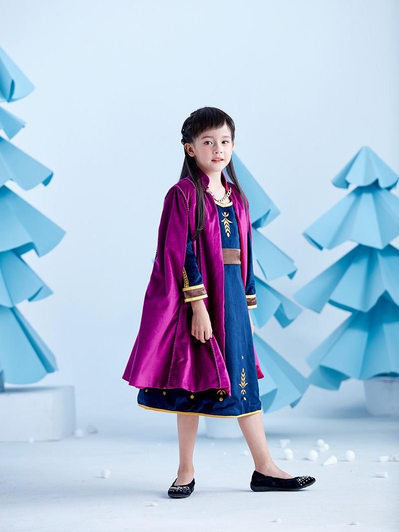 冰雪奇缘2安娜公主裙冬款