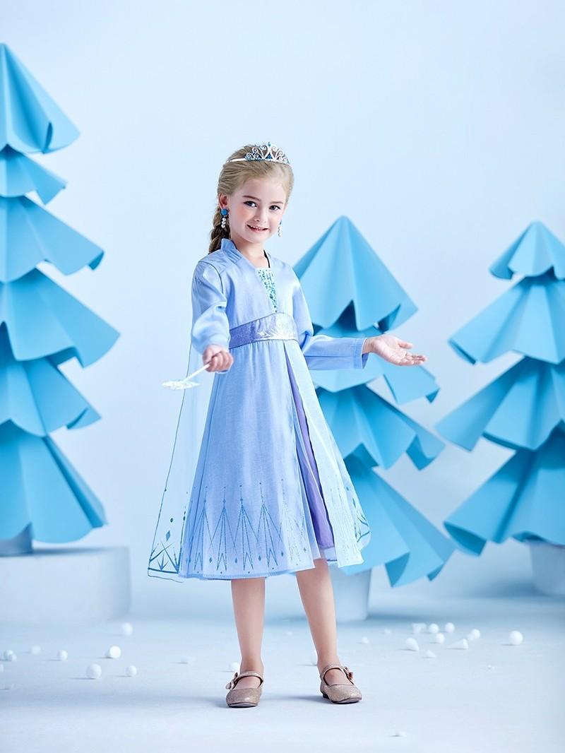 冰雪奇缘2艾莎公主裙冬款