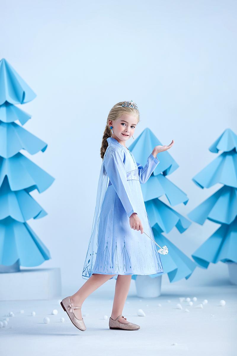 冰雪奇缘2艾莎同款公主裙