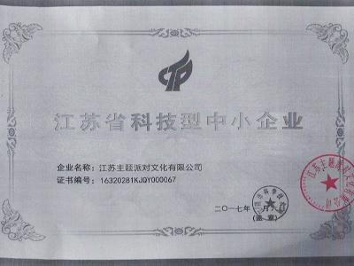 梦幻派对-江阴科技型中小企业